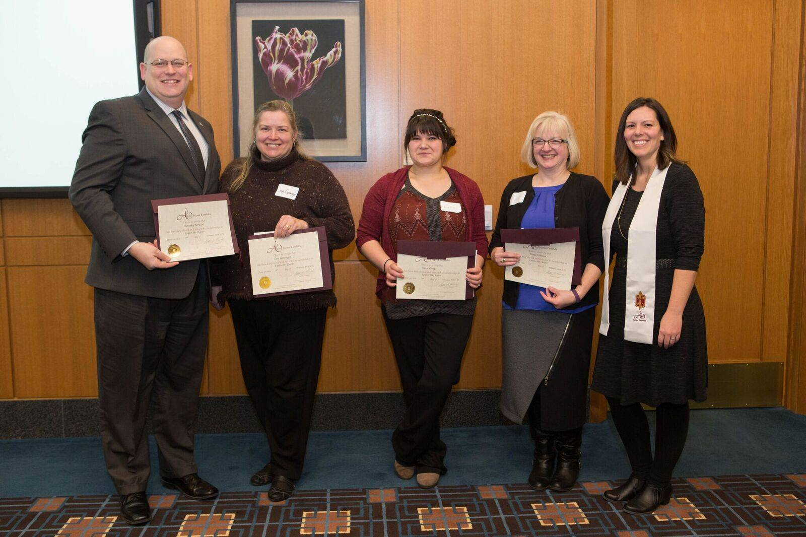 Students inducted into honorary society